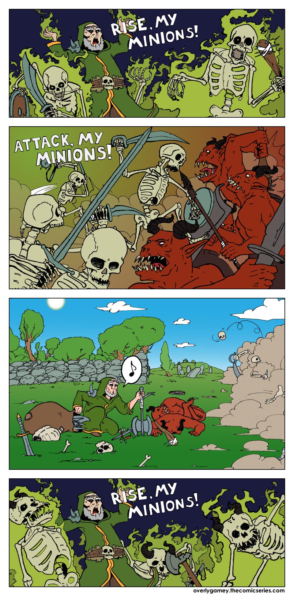 Look, corpses! Look, loot!
